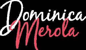 Logo Dominica Merola blanc et rose